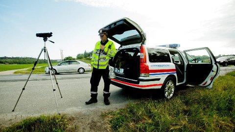 Mange over lovlig hastighet: Utrykningspolitiet skrev ut 17 forenklede forelegg i løpet av kontrollen i Løkenveien. Illustrasjonsfoto.