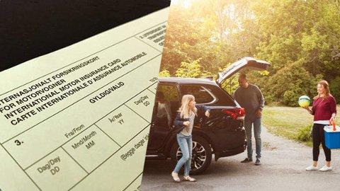 Grønt kort er et internasjonalt forsikringsbevis som viser at du har ansvarsforsikring på bilen din.