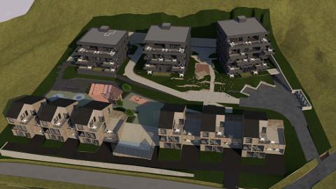 PLANER: Det er planer om totalt 50 nye boliger i to rekker i Odalsveien.