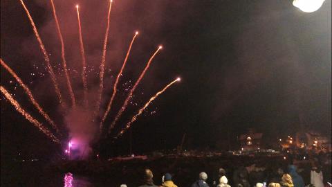 Nyttårsaften 2019 i Drøbak. FOTO: Steinar Knudsen