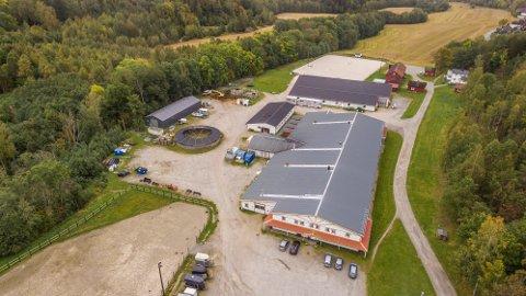 Ridesentertomta i Drøbak, der Solon Eiendom AS ønsker å bygge rundt 180 nye boliger.