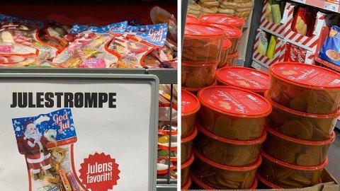 GOD JUL: Nå er julegodtet kommet i Europris-hyllene. Foto: Halvor Ripegutu