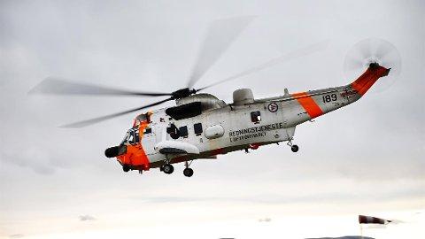 ØVELSE: Et tilsvarende helikopter ble sett delta på en øvelse i Oslofjorden.