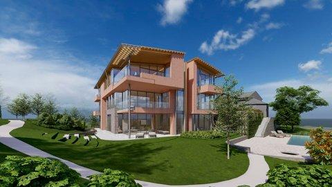 UNIKT: Tre leiligheter ytterst på pynten på Bygdøy vil være attraktivt, og flere meglere mener 100 millioner kroner er en oppnåelig pris. Ill: Niels Torp arkitekter.