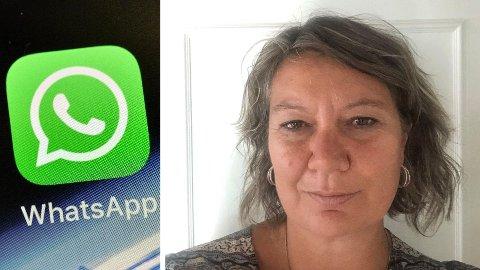 UNNGIKK Å BLI SVINDLET: Marthe Bottolfs slapp fra svindelforsøk gjennom appen WhatsApp med skrekken. Foto: Martin Meissner (AP/NTB) / Privat