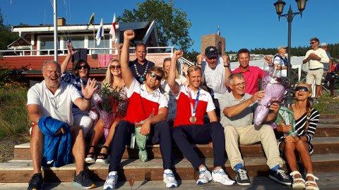 Deilig vær og god stemning under OL-mottakelsen i Drøbak torsdag.
