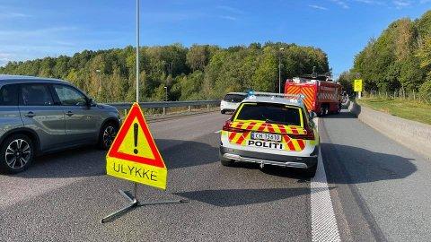 Tre biler er involvert i en ulykke på E6 ved Årungen.