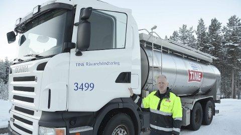 Miljøgevinst: Transportleder i TINE på Tolga, Roar Kvilvang, kan dokumentere store miljøgevinster ved å gå over til nytt biodiesel.