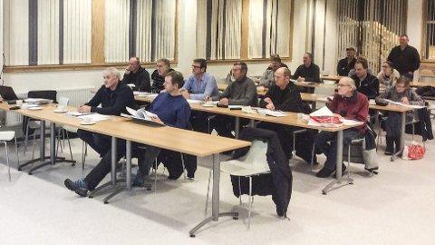 Skogbruk på planen: 20 personer var til stede under møte i Hovet om den nye skogbruksplanen som var klar i høst. Foto: Privat