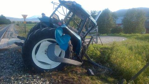 Traktorulykke på Rørosbanen, nord for Tynset i 2014