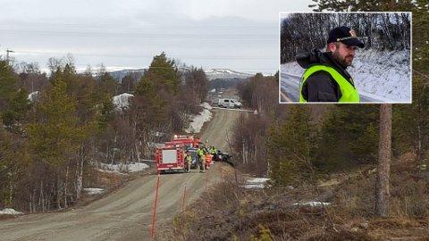 Ulykken skjedde i Dalsveien. Innfeltet Jørgen Lagesen fra politiet på Røros.