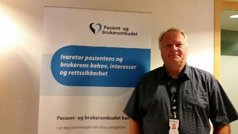 Pasient -og brukerombud Tom Østhagen betegner klagebildet mot Tynset sykehus som sammenfallende med hva de får henvendelser om ved andre sykehus. Forøvrig roser han sykehuset for rask og god behandling av klagesaker.