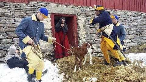 HERJET: Karolinerne tok for seg av mat og husdyr på gårdene rundt omkring i bygdene (her fra Tylldalen). Alle foto: Bjørn Nysveen