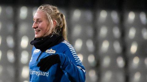 Rina Finborud Resberg har vært tilknyttet fotballaget Sarpsborg 08 siden august.