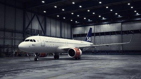 NYE FLY TIL TRYSIL: SAS sine nye Airbus 320neo skal fly til Trysil og Sälen fra London, København og Aalborg.