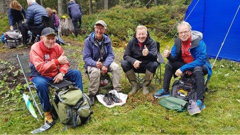 Nord-Østerdøler i Krokkleiva, fra venstre Lars Buttingsrud, Mads Berg, Bjørn Ivar Ryen og Petter Gullikstad.
