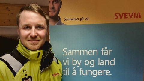 SVENSK I NORGE: Martin Myhr (30) tar med seg positiv energi inn i sin nye jobb som prosjektleder ved  Svevias avdeling i Røros.