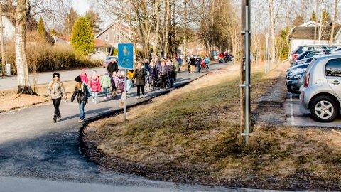 Protestmasj fra Moer til Rustad på fredag.