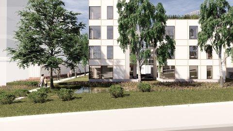 UTFORDRER: - Boligprosjektet vårt i Solbakken skal utfordre den tradisjonelle måten å bygge leiligheter på, sier Harald Schytz og Falko Müller-Tyl.