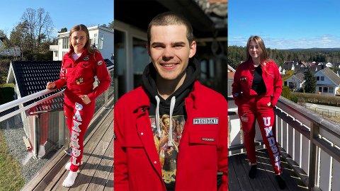 ÅS-RUSSEN: (f.v.) Aurora Saxebøl, Emil Magnus og Ingrid Korsbø Undset er i russestyret på Ås VGS.