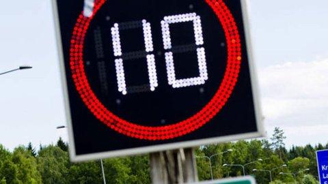 I dag er 110 km/t det raskeste det er tillatt å kjøre på norske veier. De fleste mener også at dette er fort nok, det viser en ny undersøkelse fra Trygg Trafikk. Foto: NTB Scanpix.