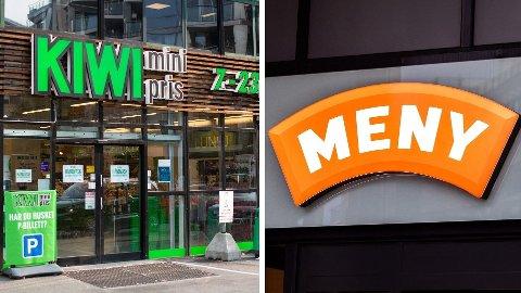 STORE: Kiwi og Meny, eid av Norgesgruppen, er store aktører i dagligvaremarkedet.