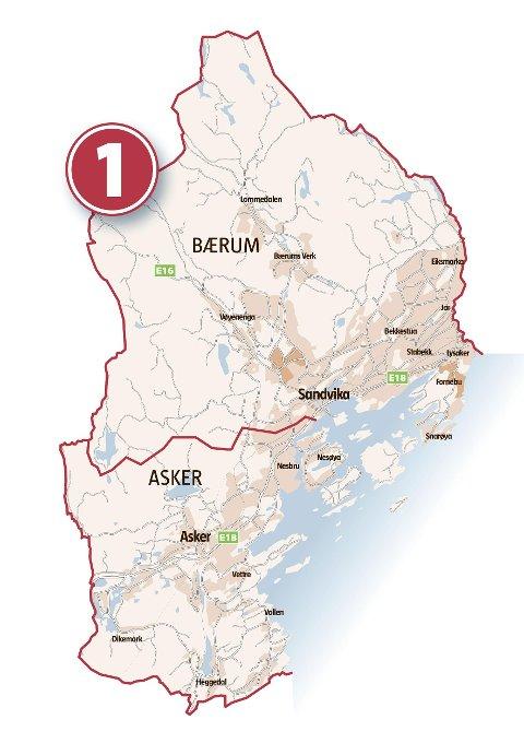 kart over asker og bærum Budstikka   Hvor går grensen? kart over asker og bærum
