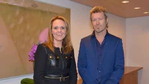 NY: Kulturminister Linda Hofstad Helleland og ny styreleder Magne Furuholmen. FOTO: WENCHE NYBO/KULTURDEPARTEMENTET