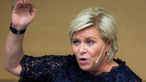 Finansminister Siv Jensen (Frp) innfører en helt ny skatt. Foto: Berit Roald, NTB scanpix/ANB