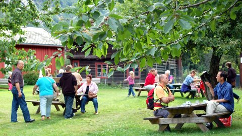 Populært: Onsdagstreffene på Leikvin har samlet bra med folk. Her er det mulighet for å ta ettermiddagskaffen i flotte og rolige omgivelser. Arkivfoto