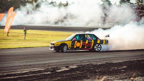 ELLEVTEPLASS: Olav Haugen Hasdal ble nummer elleve på breisladd-konkurransen på Gatebil på Rudskogen.