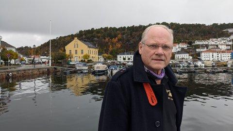 TOLLBODEN OG MER: Oddvar Halvorsen ønsker å se et eventuelt kjøp av Tollboden i en større sammenheng, og lanserer nå helt nye tegninger for hele området.