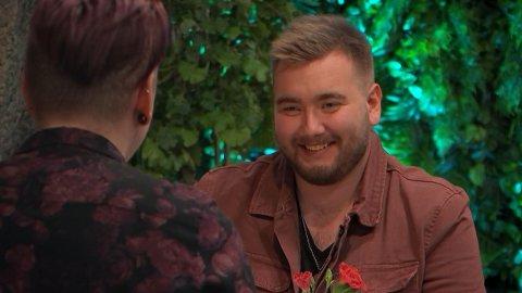 Atle Aasvik (21) fra Gjerstad er denne uken å se i Første Date på TVNorge.
