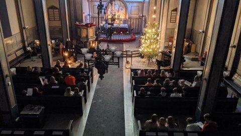 Den siste av i alt 22 julearrangementer i kirkelig regi, myntet på skole- og barnehage-barn i Risør og på Søndeled denne desember måned.