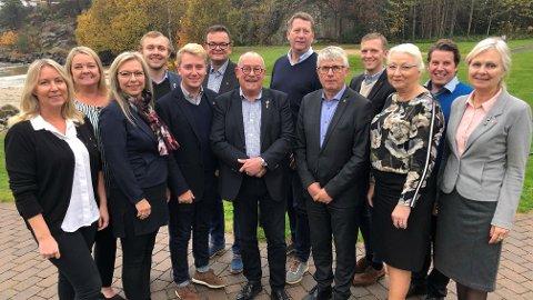 Agder Høyres fylkestingsgruppe er den største gruppen i flertallskonstellasjonen i Agder fylkeskommune 2019-2023 Foto: Agder Fylkeskommune