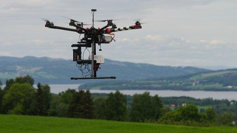 I prosjektet Remote Sensing som ble ledet av Marit Jørgensen fra NIBIO, undersøkte forskerne hvordan droner med hyperspektrale kamera kan brukes for å kartlegge grasavlinger på rotnivå – og det før høsting. Foto: Morten Günther/NIBIO