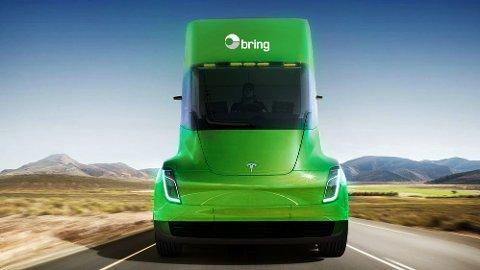 ET EKSEMPEL: Posten Norge har allerede en av verdens største flåter av el-kjøretøy. Den skal utvides med en elektrisk semitrailer fra Tesla.