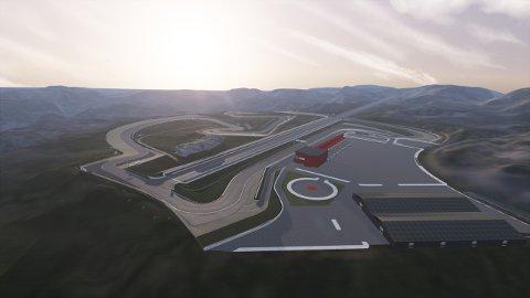 BYGGESTART I ÅR?: KNA Raceway nærmer seg byggestart, men foreløpig planlegges det å bruke brakker fra 70-tallet som hovedbygg.