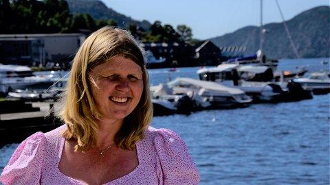 OPTIMISTSISK: Signe Marie Rølland er klar for tre uker i Avisen Agder. Hun gleder seg til å sette dagsordenen og lage saker.