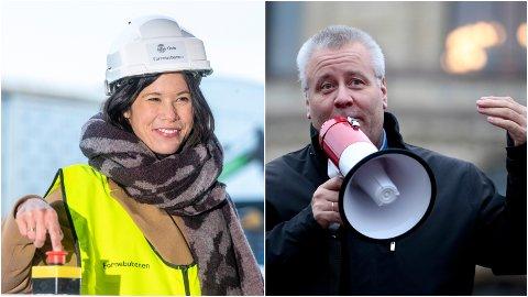 Lan Marie Berg (MDG) er miljø- og samferdselsbyråd i Oslo. Hun ber Oslo-folket kvitte seg med utslippsbiler. Det reagerer Bård Hoksrud (Frp) kraftig på. Foto: Terje Pedersen / Jil Yngland / NTB