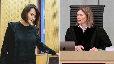 Tingrettsdommer Helen Andenæs Sekulic ber NRK og Line Andersen om å komme til en løsning utenfor domstolen. Hun tror ikke at en dom i saken vil gjøre arbeidsforholdene i NRK bedre. Foto: Stian Lyseberg Solum/Lise Åserud (NTB)