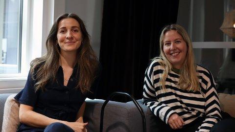 SKUESPILLERE: Karin Klouman (t.v.) og Kristine Grændsen spiller i Discovery+-suksessen «Basic Bitch».