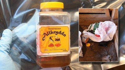 BESLAG: Politiet fant denne beholder med det som skal ha vært et forsøk på å tilvirke nikotingift hjemme hos 16-åringen. Selv nekter han for at han planla terror.