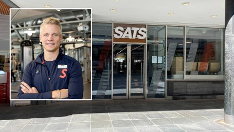 Administrerende direktør for SATS, Sondre Gravir, leverer kvartalsrapporten for andre kvartal i 2021 med finansdirektøren Cecilie Elde onsdag morgen. Foto: SATS