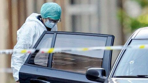 En 39 år gammel mann ble skutt og drept i Oslo sentrum, mandag 19. juli. Foto: Fredrik Hagen / NTB