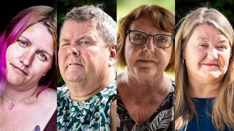 TI ÅR ETTER: (f.v.) Rita Victoria Føreland, Tor-Inge Andy Sogn, Lisbeth Røyneland og Linda Sogn forteller åpenhjertig om livet etter 22. juli 2011.