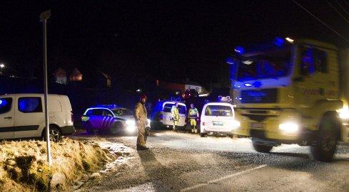 Tragisk utfall: Ei kvinne omkom, og foreldra hennar trengte legehjelp etter brannen på Radøy. FOTO: Sigrun Haugsdal Reknes