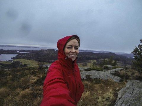 182 turar: I fjor kunne Linda Westervik skilta med 182 turar på Steinsfjellet, og fekk dermed tildelt den gjeve tittelen. PRIVAT FOTO