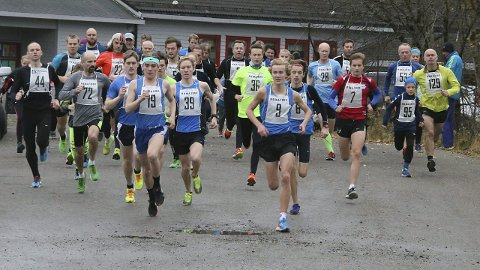 Løpsglade: 96 løparar deltok i den andre runden av vinterkarusellen til Eikanger idrettslag.Alle FOTO: EIKANGER IL