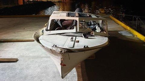 Lystbåten, ein 15-16 fot stor plastbåt, er no stasjonert på CCB-basen på Ågotnes.